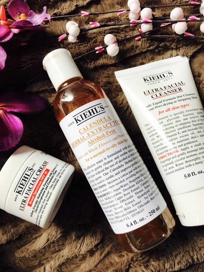 New Skincare routine using Kiehls